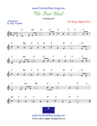 Sheet Music - The First Noel